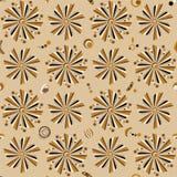 retro seamless för blom- modell Royaltyfri Bild