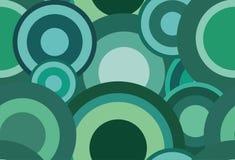 Retro seamless green vector texture with circles Royalty Free Stock Photos
