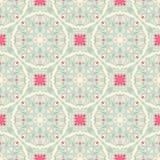 Seamless leaf blue pattern Royalty Free Stock Photo