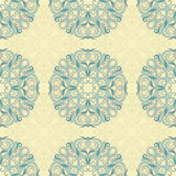 Seamless leaf turquoise pattern Royalty Free Stock Photography