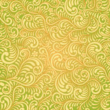 Retro seamless leafs damask pattern Stock Photography