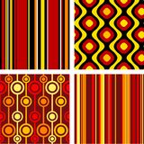 Retro seamless ornaments. 4 versions of retro seamless patterns Royalty Free Stock Images