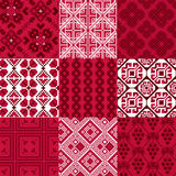 9 retro seamless ornaments. For textile, wallpaper, wrapping, web backgrounds etc Royalty Free Stock Images