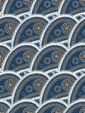 Retro seamless paisley indian pattern Stock Photo