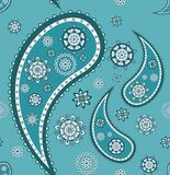 Retro seamless paisley (turkish cucumber) pattern Stock Image