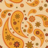 Retro seamless paisley (turkish cucumber)pattern Stock Image