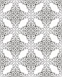 Retro Seamless Pattern. Seamless pattern from black flowers and leaves(can be repeated and scaled in any size Royalty Free Stock Photos