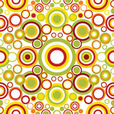 Retro seamless pattern. Bright geometrical ornament with circles Royalty Free Stock Photo