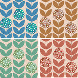 Retro seamless pattern. Retro stylized floral seamless pattern vector illustration