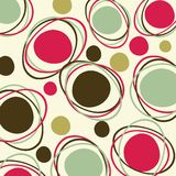 Retro - seamless pattern. 70s retro pattern. Vector file, scales to any size Royalty Free Stock Photo