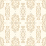 Retro seamless pattern. Retro beige nature seamless pattern with a crowns Royalty Free Stock Image