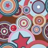 Retro Seamless Pattern royalty free illustration