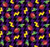Retro Seamless Pattern. With Strawberry Stock Photos