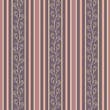 Retro seamless pattern background with elegance fl Stock Photo