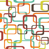 Retro seamless pattern background with squares - rounded.  Stock Images