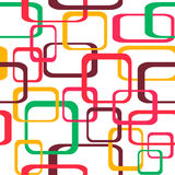 Retro seamless pattern background with squares - rounded.  Stock Image