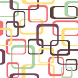 Retro seamless pattern background with squares - rounded.  Stock Photography