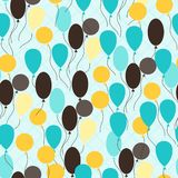 Retro seamless pattern with ballons Stock Image