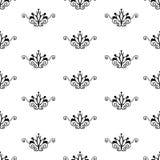 Retro seamless pattern. Retro  black & white seamless pattern Stock Images