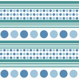 Retro seamless pattern - blue circles, turquoise aquamarine lines. vector illustration