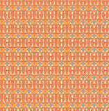 Retro seamless pattern, Blue cream orange yellow background. Fabric seamless pattern, Print, Texture for web Royalty Free Illustration