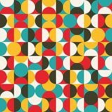 Retro seamless pattern with circles. Stock Image