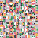 Retro seamless pattern with circles Royalty Free Stock Photo