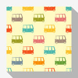 Retro seamless pattern collection with car Stock Image