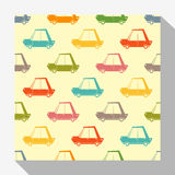 Retro seamless pattern collection with car Royalty Free Stock Image