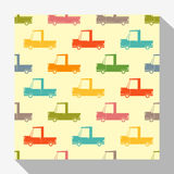Retro seamless pattern collection with car Royalty Free Stock Photography