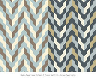 Retro Seamless Pattern 2 Color Set_131 Arrow Geometry Royalty Free Stock Photo