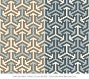 Retro Seamless Pattern 2 Color Set_389_Geometry Arrow Triangle Cross Stock Photos