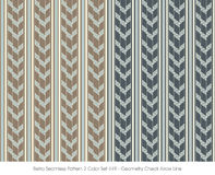 Retro Seamless Pattern 2 Color Set_449 Geometry Check Arrow Line Stock Photography