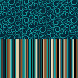 Retro seamless, pattern with color stripes Royalty Free Stock Photos