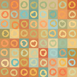 Retro seamless pattern with colorful hearts. EPS 8 Royalty Free Stock Images