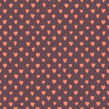 Retro seamless pattern with colorful hearts. Stock Photography