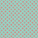 Retro seamless pattern with colorful hearts. Royalty Free Stock Photos