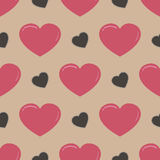 Retro seamless pattern with colorful hearts Stock Image