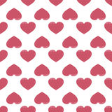 Retro seamless pattern with colorful hearts Royalty Free Stock Photography