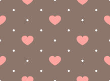 Retro seamless pattern with colorful hearts Royalty Free Stock Image
