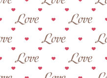 Retro seamless pattern with colorful hearts Stock Images