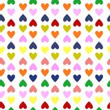 Retro seamless pattern with colorful hearts. Valentine seamless pattern with colorful hearts Royalty Free Stock Images