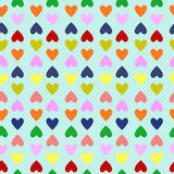 Retro seamless pattern with colorful hearts Stock Photography