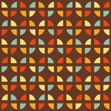 Retro seamless pattern with colorful shapes Stock Images