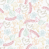 Retro seamless pattern concept. Retro seamless pattern or collection of doodles Stock Photos