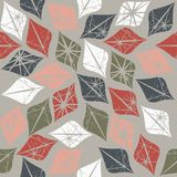 Retro seamless pattern with decorative elements. Image can be used for design fabric, tile, linen and more creative designs royalty free illustration
