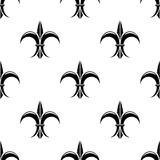 Retro seamless pattern with french fleur de lys Royalty Free Stock Photography