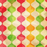 Retro seamless pattern with grunge effect Royalty Free Stock Photo