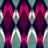 Retro seamless pattern with grunge effect Royalty Free Stock Images