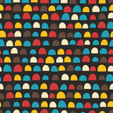Retro seamless pattern with half of circles Stock Images